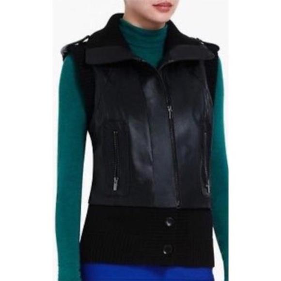 BCBGMaxAzria Jackets & Blazers - BCBGMaxazria Black Viggo Leather Vest